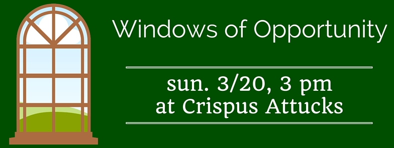 Crispus attucks archive events for Window of opportunity