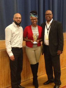Sharee McFadden Receiving Award